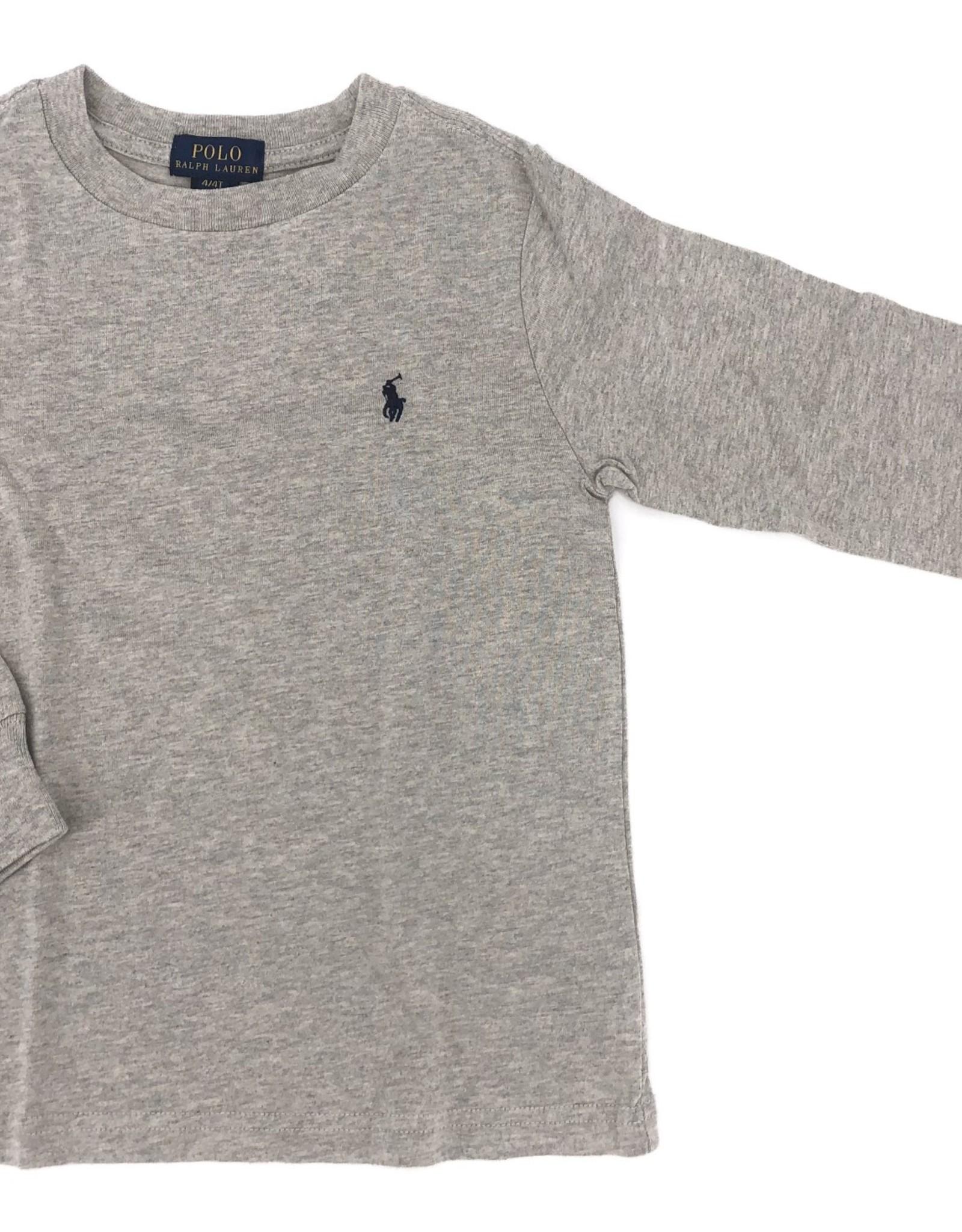 RALPH LAUREN RALPH LAUREN T-shirt grijs lange mouw
