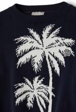 IL GUFO IL GUFO Pull blauw palmboom