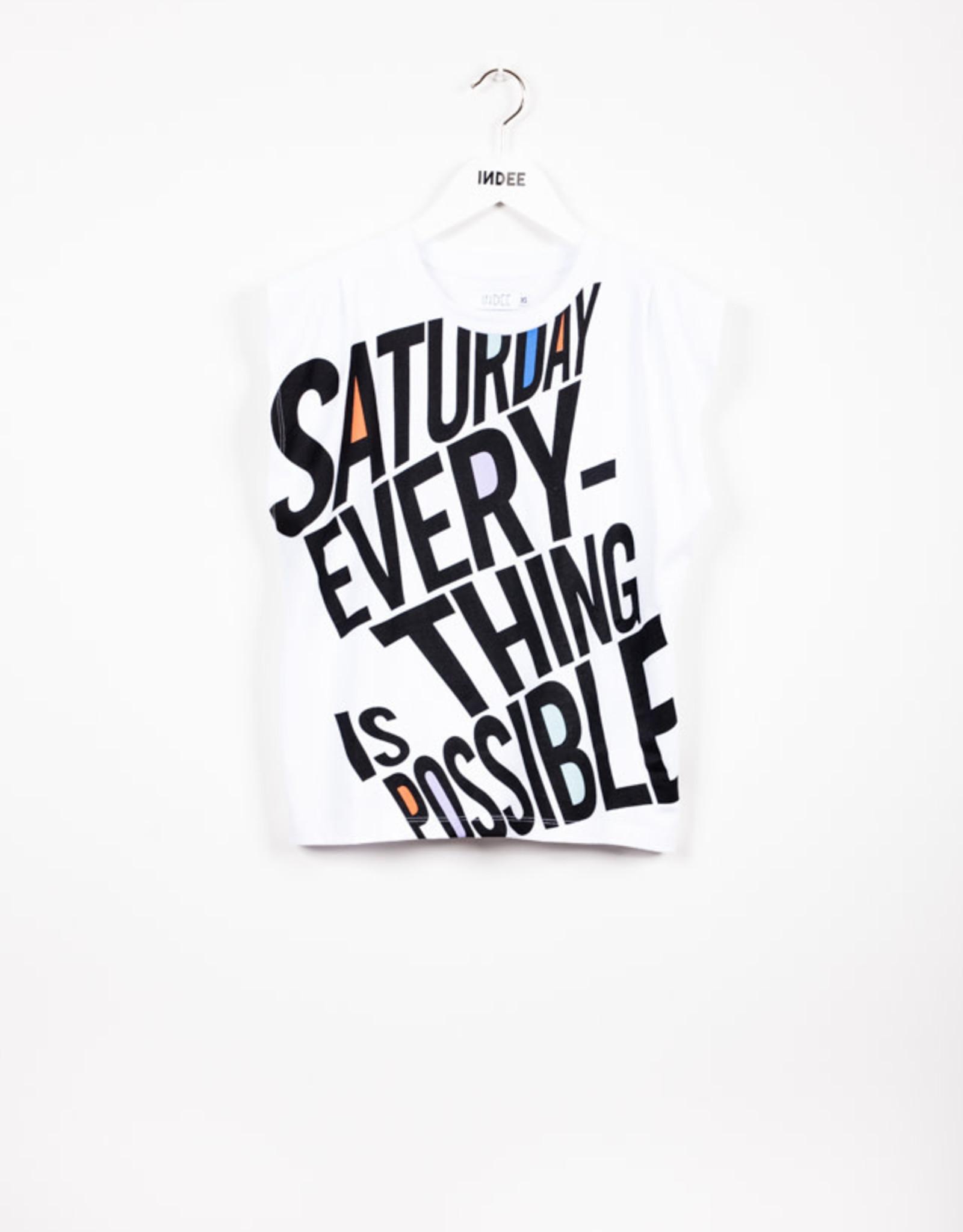 INDEE INDEE T-shirt Janeiro Saturday White
