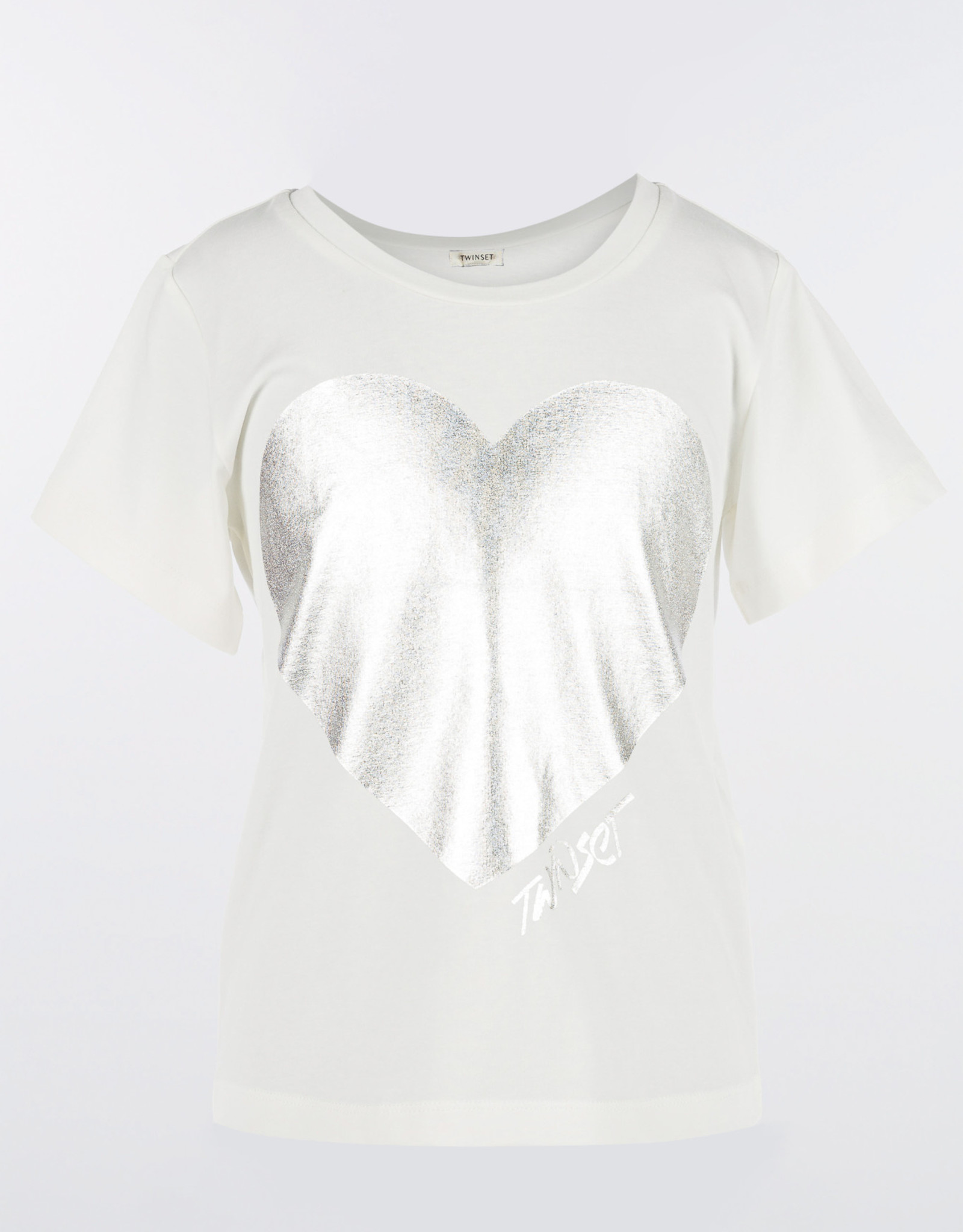 TWIN SET TWIN SET T-shirt zilver hart