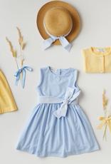 MALVI & CO MALVI & CO Blauw kleedje met strik