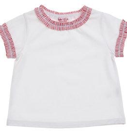 MALVI & CO MALVI & CO T-shirt rood detail