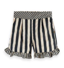SCOTCH REBELLE SCOTCH REBELLE Linen stripe short