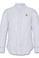 AMERICAN OUTFITTERS Ao76 Blue Striped Mao Shirt