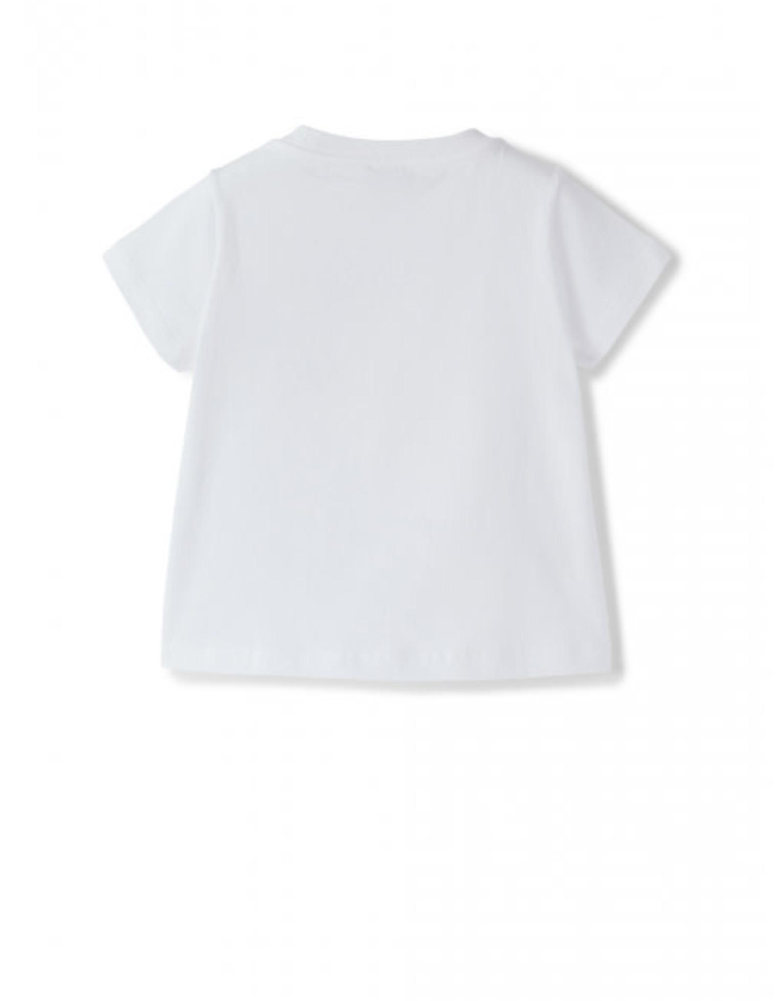 IL GUFO IL GUFO T-shirt wit met bloemen