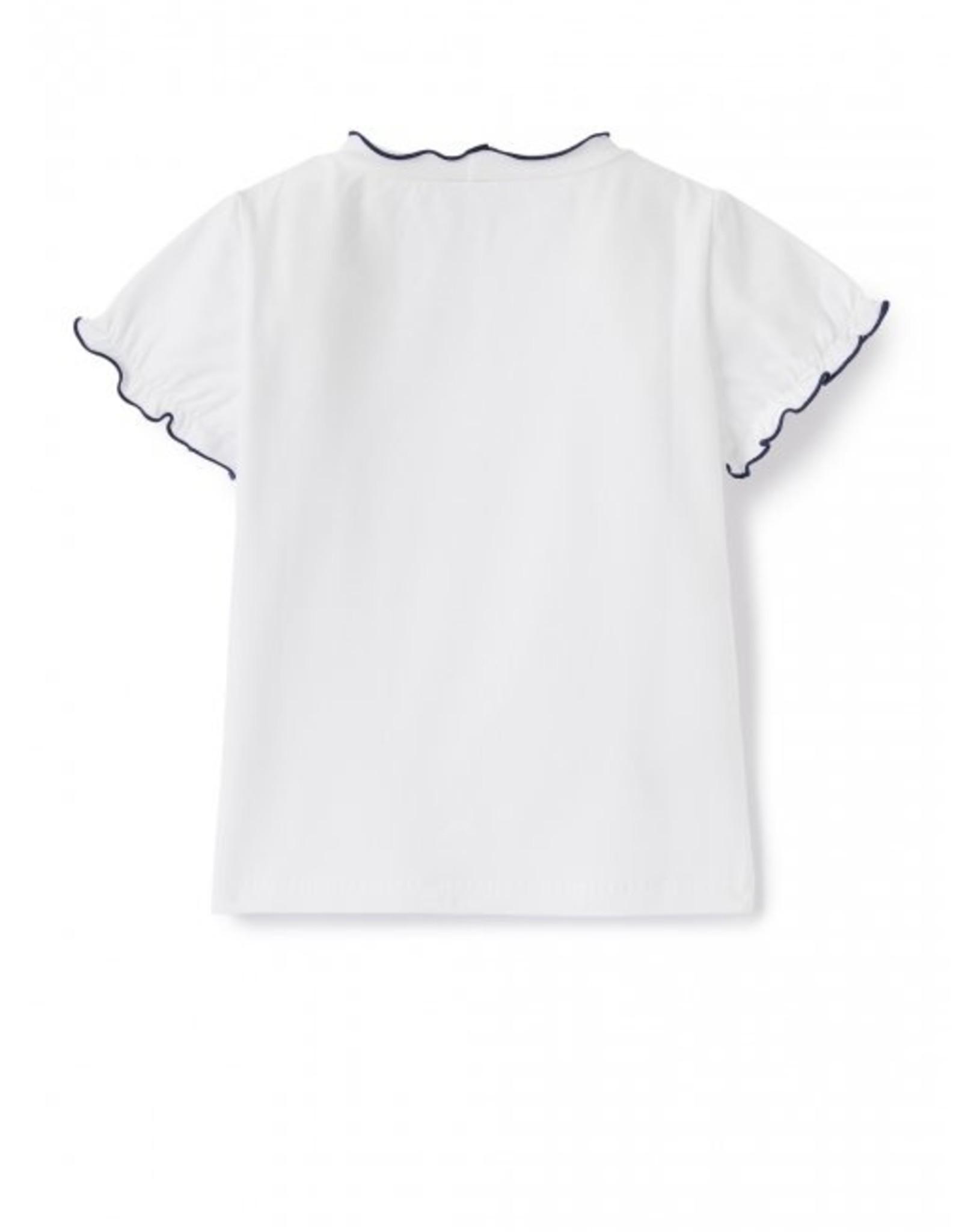 IL GUFO IL GUFO T-shirt wit/blauw