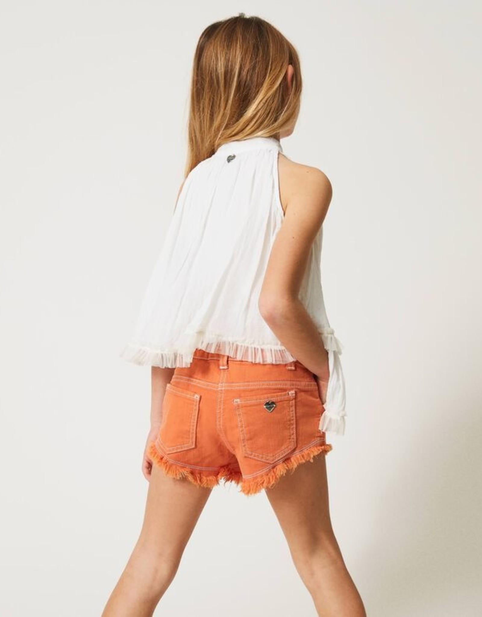 TWIN SET TWIN SET Short jeans oranje
