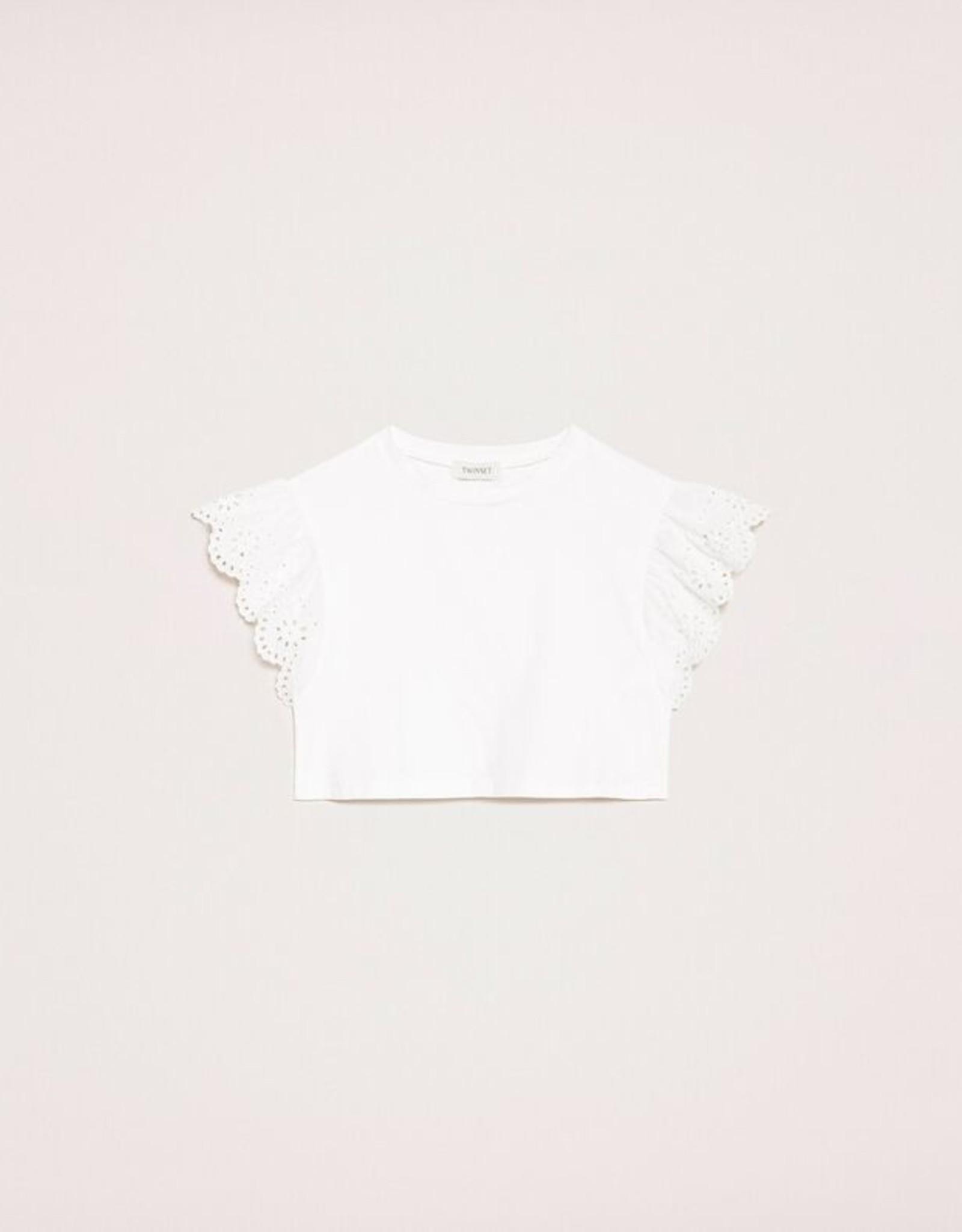 TWIN SET TWIN SET T-shirt met kant