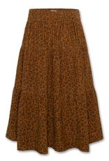 AMERICAN OUTFITTERS AO76 nikki printed skirt sepia