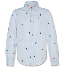 AMERICAN OUTFITTERS AO76 button down shirt ski blue