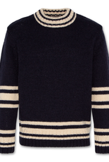 AMERICAN OUTFITTERS AO76 retro stripe c-neck navy