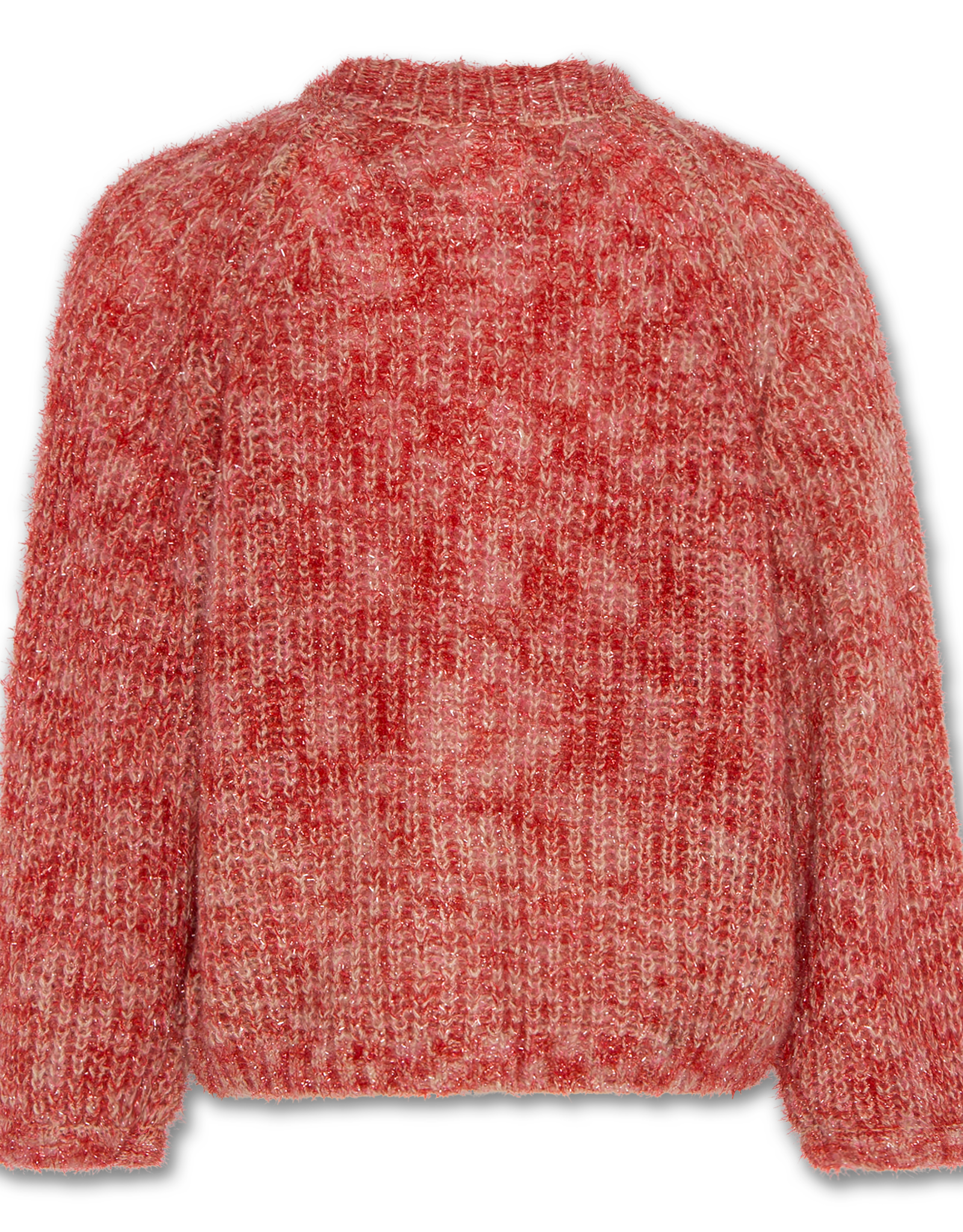 AMERICAN OUTFITTERS AO76 lurex cardigan red