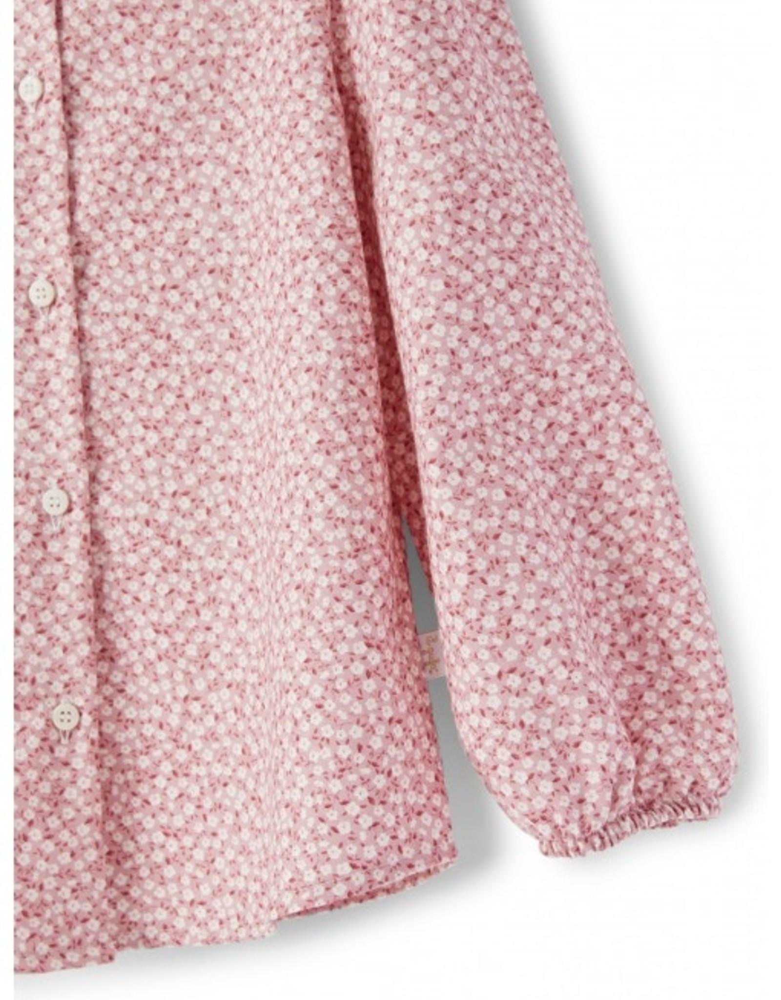 IL GUFO IL GUFO Blouse roze bloemen