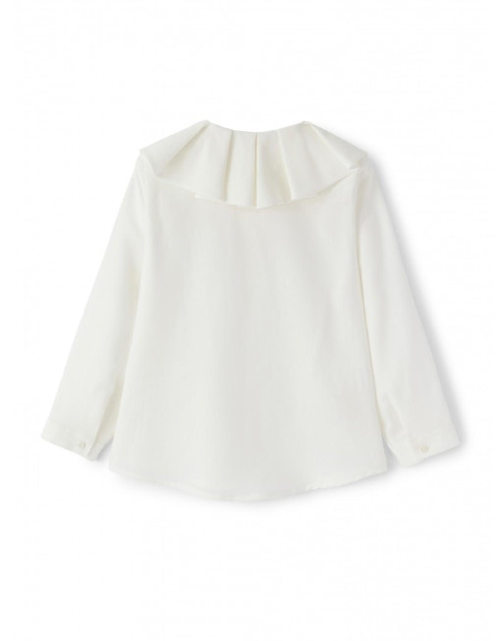 IL GUFO IL GUFO Witte blouse met kraag