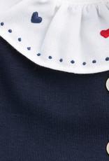 MALVI & CO MALVI & CO Kleedje blauw kraagje