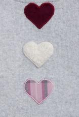 MALVI & CO MALVI & CO Kleedje lichtgrijs hartjes