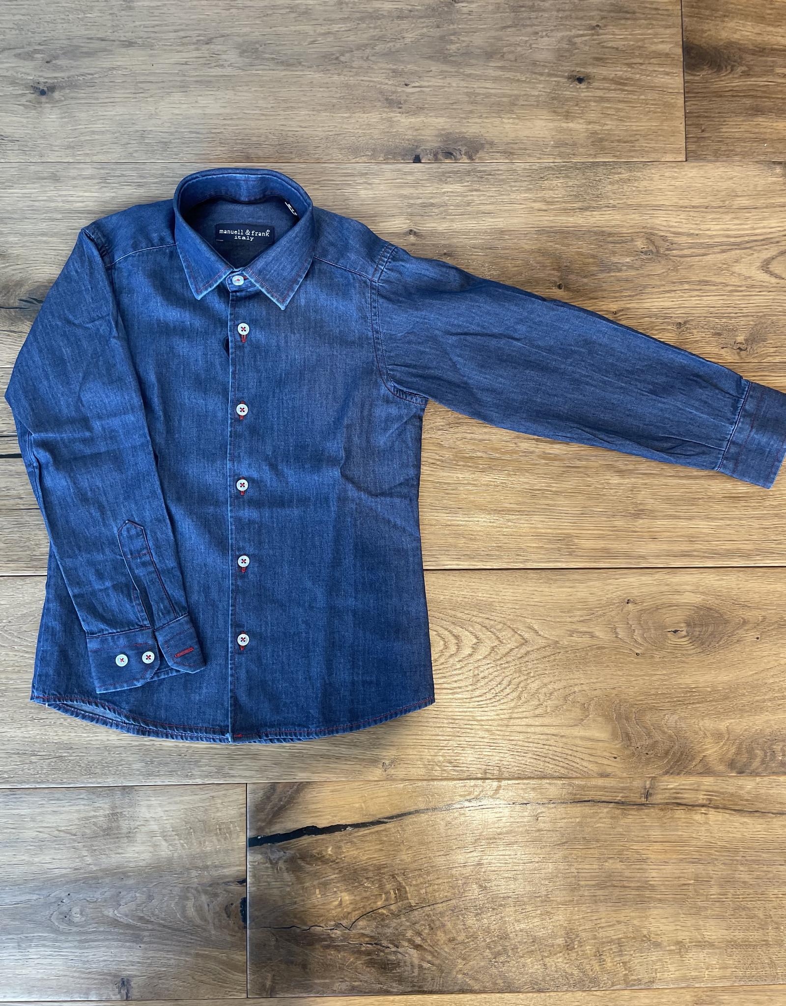 MANUELL & FRANK MANUELL & FRANK Hemd jeans MF3180