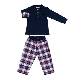 COTOLINI Pyjama Marcel tartan marine
