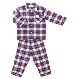 COTOLINI Pyjama Mathieu tartan blanc
