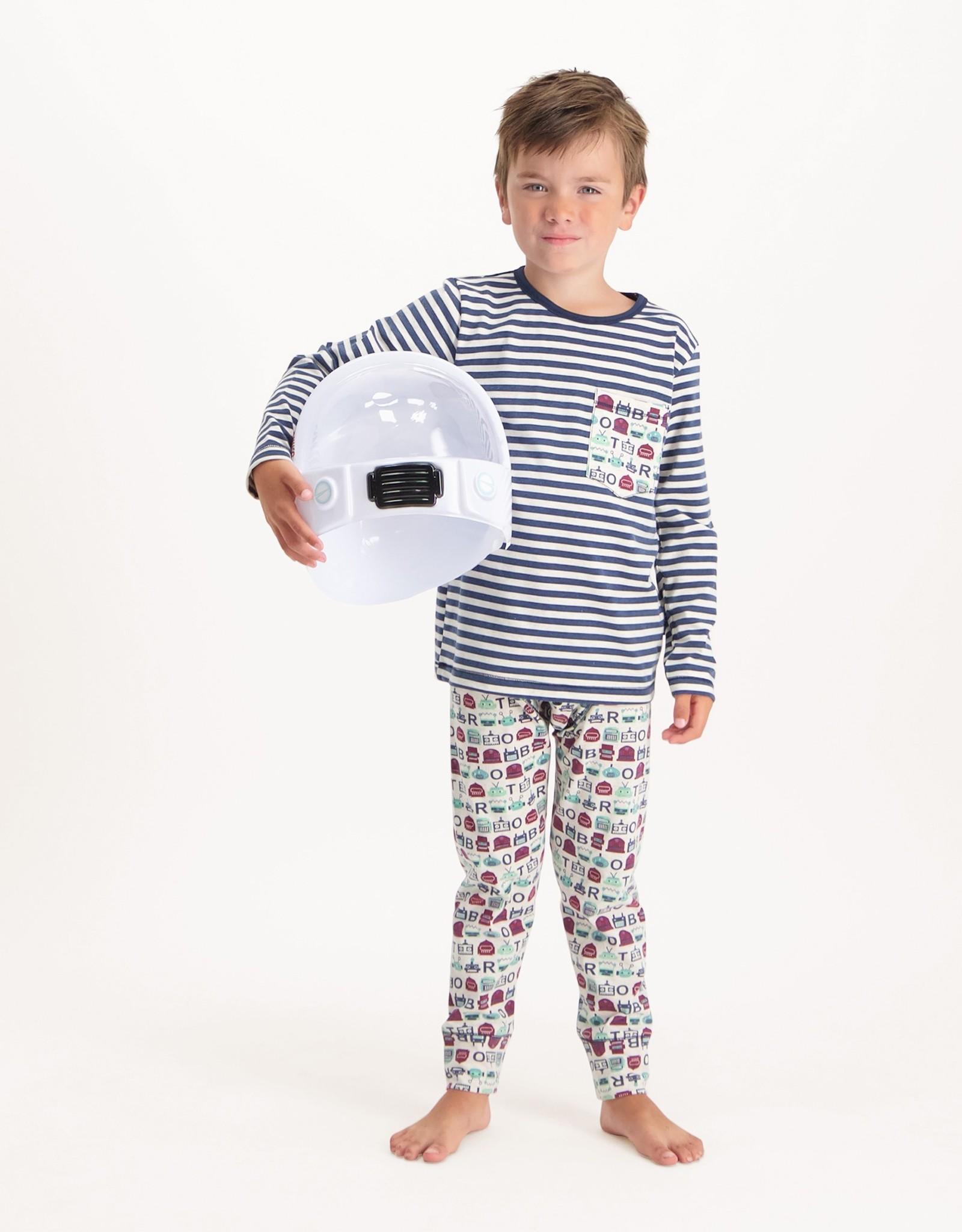 CLAESEN'S CLAESEN'S Pyjama robot stripes
