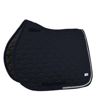 Fairplay Saddle Pad Hexagon Crystal //Black VS Black VS