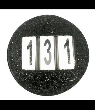 Equito Number Holder - Black Black One Size