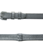 Döbert Classic Leatherreins plain, 16mm, stainless steel buckles, 5 stops and leather wrapped Zwart Full
