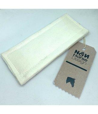 N&N Horse Design Kinnschoner/Curb Pad, Weiss/White// Weiss/White//Weiss/White// 12x6cm