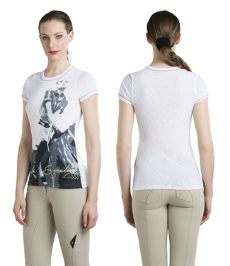 Equiline WOMAN T HSIRT LEISURE WEAR RONDA