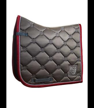 Equestrian Stockholm Saddle pad Grey Bordeaux