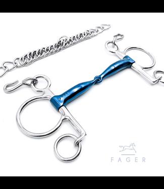 Fager Baby Pelham Single Jointed Titanium Bit - HENRY
