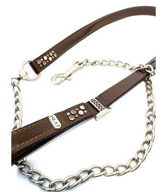 JUDI Odessa Lead Colorado Gold Pattent Brown 130 leather