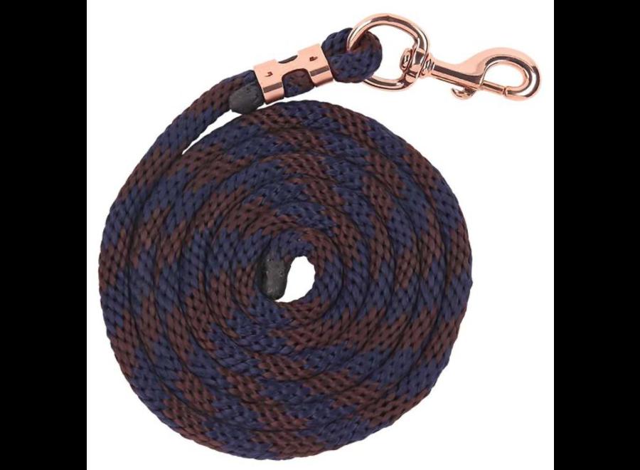Bracelet Braided Lead - Navy/Brown Navy/Brown 2,5m