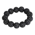 SD Design Diamond Bead scrunchie Black Black