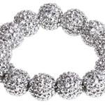 SD Design Diamond Bead Scruncie Crystal Crystal