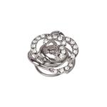 SD Design DIAMOND ROSE HAIR TWISTER Silver One Size