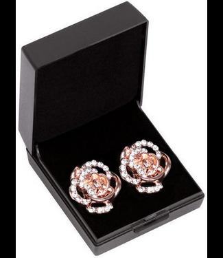 SD Design DIAMOND ROSE EARRING. ROSE GOLD Rose Gold One Size