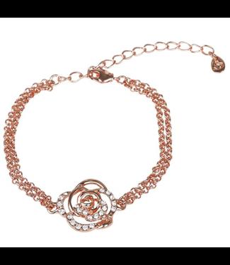 SD Design DIAMOND ROSE BRACELET. ROSE GOLD Rose Gold One Size