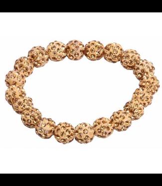 SD Design Small Diamond Scrunchie in Gold Diamond