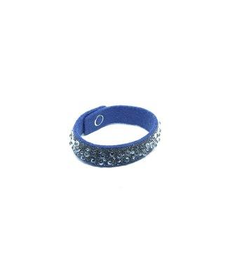 Schumacher Bracelet 16 mm with Swarovski Elements// Licht Blauw