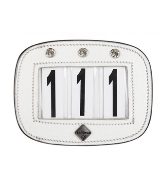 Le Mieux Diamante Saddle Pad Number Holder White