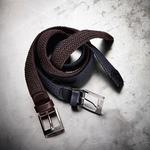 Equiline Unisex braided elastic belt One