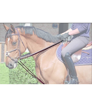 Dy on Draw Reins Rope/Leather  5/8