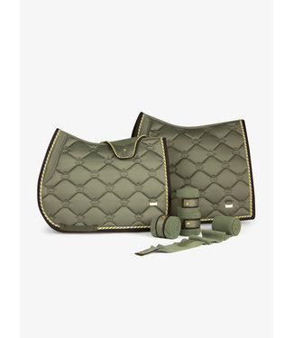 PS Of Sweden Saddle Pad Monogram Moss