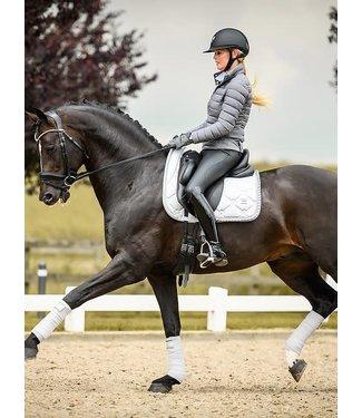 PS Of Sweden Set: Dressage saddle pad + polos Silver Full