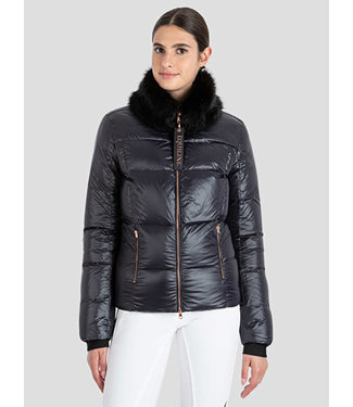 Equiline Women's Downjacket With Detachable Faux Fur Collar