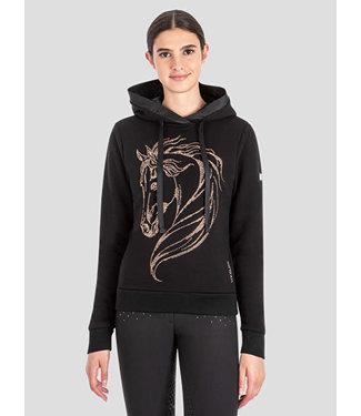 Equiline Women's Sweatshirt With hood And Horse Design