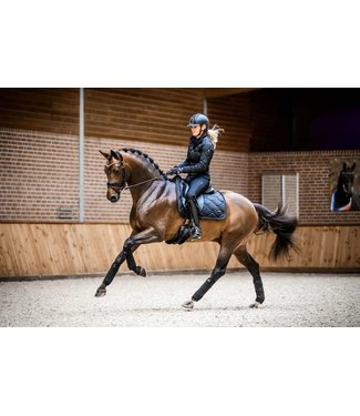 PS Of Sweden Set: Saddle pad + Fly Hat Or Polos Beluga Black
