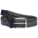 Cavalleria Toscana Elastic Woven contrast Rayon Leather belt