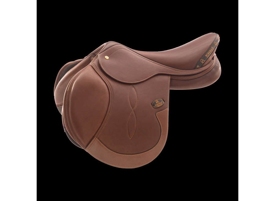 Masaccio Jumping Saddle - Double Calf Leather - Flocked Panels - MAG System